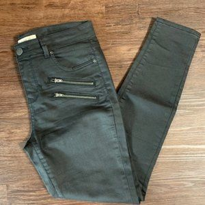 Life In Progress Coated Skinny Black Jeans
